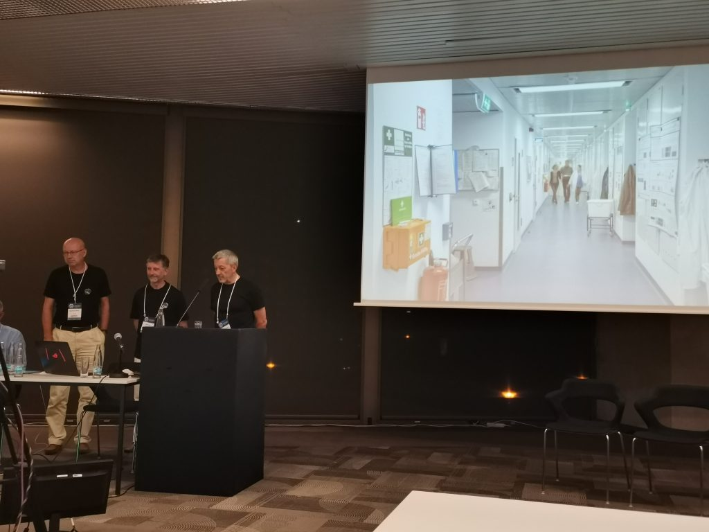Manfred Weiss, Christian Lehmann, and Udo Heinemann are presenting the trailer for the DGK's bid to host the IUCr 2029 Congress in Berlin.